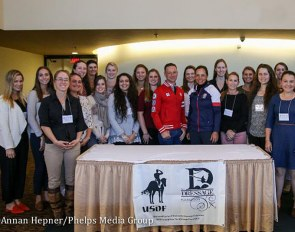 Participants of the 2018 USDF/USEF Young Rider Graduate Program :: Photo © Annan Hepner