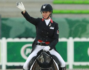 Canadian team rider Karen Pavicic at the 2014 World Equestrian Games :: Photo © Astrid Appels