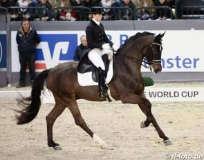 Barbançon and Sir Donnerhall II at the 2018 CDI-W Neumunster :: Photo © LL-foto