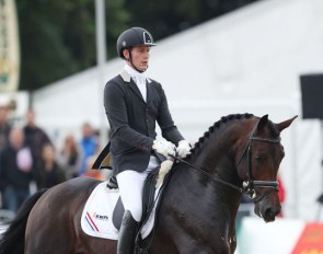 Diederik van Silfhout and Don Tango at the 2013 World Young Horse Championships :: Photo © Astrid Appels