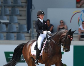 Victoria Vallentin and Select Ecco at the 2014 CDIO-U25 Aachen :: Photo © Astrid Appels