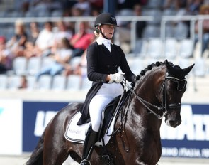 Denise Nekeman and Boston at the 2017 CDIO-U25 Aachen :: Photo © Astrid Appels
