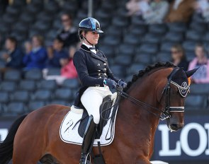 Larissa Pauluis and Barroso at the 2017 World Young Horse Championships :: Photo © Astrid Appels