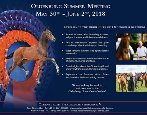 2018 Oldenburg Summer Meeting - Don't Miss This Breeders Course