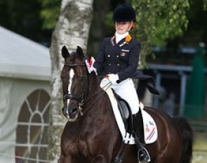 Suzanne van de Ven on Donna Gracia at the 2012 European Junior Riders Championships :: Photo © Astrid Appels