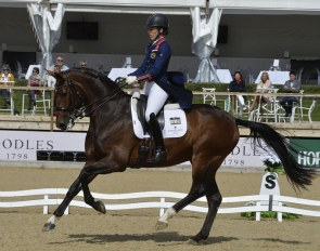 Charlotte Dujardin and Mount St. John Freestyle in action at Bolesworth