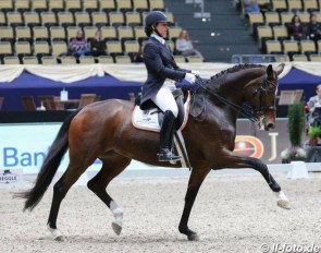 Catherine Haddad-Staller and Semper Fidelis at their last show, the 2017 CDI Munich Indoors :: Photo © LL-foto