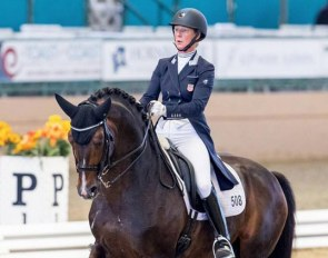 Sabine Schut-Kery and Sanceo at the 2018 CDI-W Del Mar :: Photo © Terri Miller