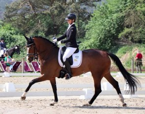 Bernadette Brune and Feel Free OLD at the 2018 Scharnebeck BuCha Qualifier