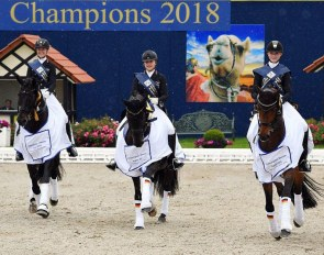 Welschof, Westendarp, Rothenberger Win Young Riders Nations' Cup at the 2018 Future Champions :: Photo © Ruchel