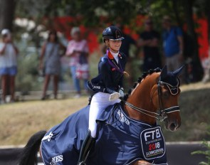 Daphne van Peperstraten wins kur gold at the 2018 European Junior Riders Championships :: Photo © Astrid Appels