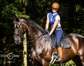 Silvia Rizzo with her new horse power: the 12-year old Hanoverian gelding Ducati (by Don Crusador x Rotspon) :: Photo © Jessica Pijlman