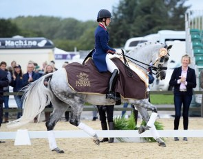 Charlotte Dujardin and Florentina win the Prix St Georges Title at the 2018 British Championships :: Photo © Kevin Sparrow