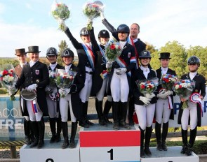 The medalists at the 2018 Luxembourg Dressage Championships