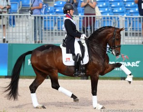 Charlotte Dujardin and Mount St. John Freestyle at the 2018 World Equestrian Games :: Photo © Astrid Appels