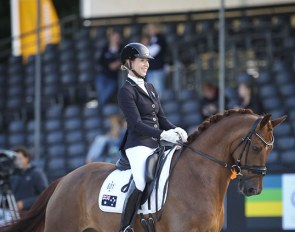 Briana Burgess and Gerion at the 2017 World Championships for Young Dressage Horses :: Photo © Astrid Appels