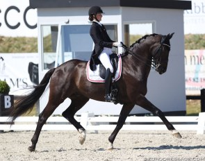 Sophia Ludvigsen and Gorklintgaards Jericho at the 2018 CDIO Uggerhalne :: Photo © Astrid Appels