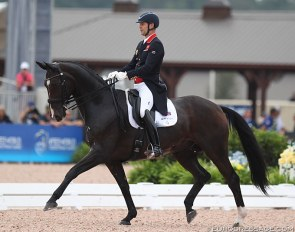 Spencer Wilton and Super Nova at the 2018 World Equestrian Games :: Photo © Astrid Appels