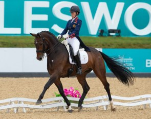 Charlotte Dujardin and Mount St. John Freestyle at the 2019 CDI Bolesworth