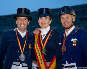 Claudio Castilla Ruiz, Beatriz Ferrer-Salat and Juan Antonio Jimenez at the 2019 Spanish Grand Prix Championships in Segovia :: Photo © Lily Forado