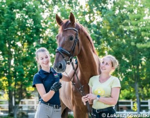 Owner Hanna Hoffer and rider Nikolett Szalai with the 6-year old Bentley :: Photo © Lukasz Kowalski