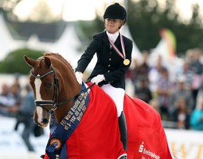 Lena Stegemann and Scara Boa at the 2013 World Championships for Young Dressage Horses :: Photo © Astrid Appels