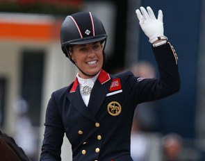 Double Olympic champion Charlotte Dujardin at the 2019 European Dressage Championships :: Photo © Astrid Appels
