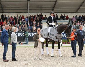 Step aside breeders, it's all about the winner and the owner at the 2019 FEI/WBFSH World Breeding Championships for Young Dressage Horses :: Photo © Pernilla Hägg