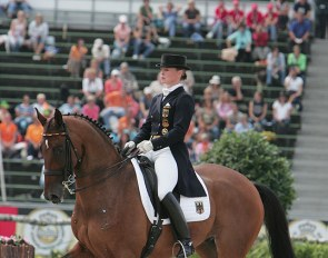 Isabell Werth and Satchmo at the 2006 World Equestrian Games in Aachen :: Photo © Astrid Appels