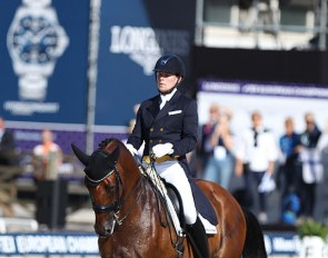 Henri Ruoste and Rossetti at the 2019 European Dressage Championships in Rotterdam :: Photo © Astrid Appels