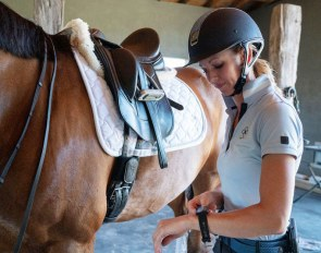 U.S. number one Grand Prix rider Laura Graves uses Hylofit in her daily training programme