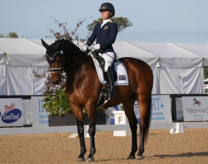 Emma Booth and Danish warmblood Mogelvangs Zidane (by Hertug x Manstein) at the 2020 CPEDI Boneo