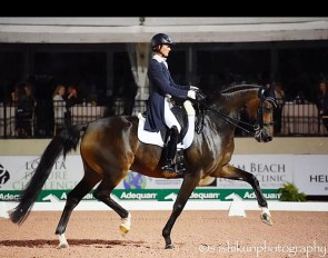 Kelly Layne and Samhitas at the 2020 CDI-W Wellington :: Photo © Satomi Ishikuri