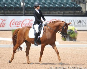 Marie Vonderheyden and London Swing score the second highest overall result in Grade I at the 2020 CPEDI Wellington :: Photo © Lindsay McCall
