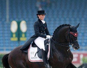 Rikke Svane and Finckenstein at the 2015 European Dressage Championships :: Photo © Astrid Appels