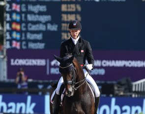 Daniel Bachmann Andersen and Blue Hors Zack at the 2019 European Dressage Championships :: Photo © Astrid Appels