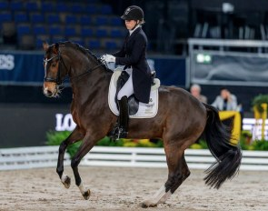 Anna Fuchs and Sympathikus at the 2019 CDI Stuttgart :: Photo © Stefan Lafrentz