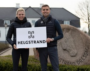 Marianne and Andreas Helgstrand showcasing their new logo