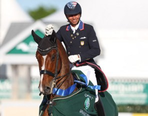 Steffen Peters and Suppenkasper at the 2020 CDI Wellington :: Photo © Astrid Appels