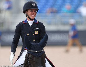 Kasey Perry-Glass at the 2018 World Equestrian Games :: Photo © Astrid Appels