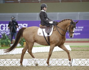 Barbara Minneci and Stuart at the 2020 CPEDI Doha :: Photo © Al Shaqab