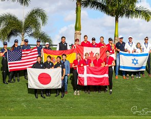 The teams that competed at the 2020 CDIO Wellington Nations Cup :: Photo © Sue Stickle