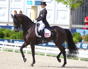 Belinda Weinbauer and Fustanella at the 2019 European Dressage Championships in Rotterdam :: Photo © Astrid Appels