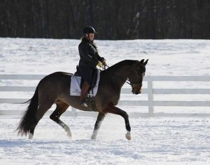 Jen Vanover at Maplewood Warmbloods in the USA