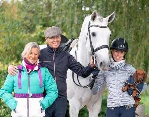 Team Caetano: mum Dita, dad and trainer Paulo and Lusitano star stallion Coroado