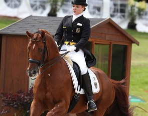 Lena Schütte and Eloy at the 2011 European Junior Riders Championships in Broholm :: Photo © Astrid Appels