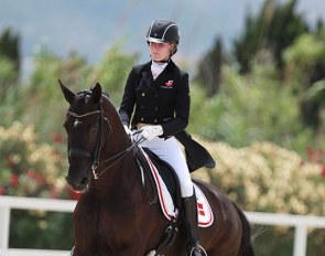 Maja Andreasen and Kano were members of the Danish team at the 2016 European Young Riders Championships in Oliva Nova, Spain :: Photo © Astrid Appels