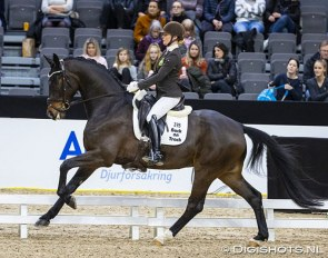 Jeanna Hogberg and Mr Grey VH at the 2020 Gothenburg Horse Show :: Photo © Digishots