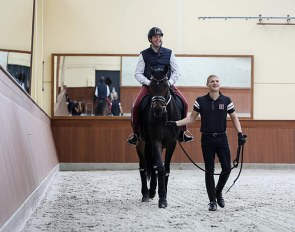 Guillaume, Hereditary Grand Duke of Luxembourg, goes for a ride on one of Nicolas Wagner's horses