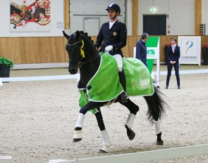 Joao Moreira and Fürst Kennedy at the Bucha selection trial in Riesenbeck :: Photo courtesy Riesenbeck international